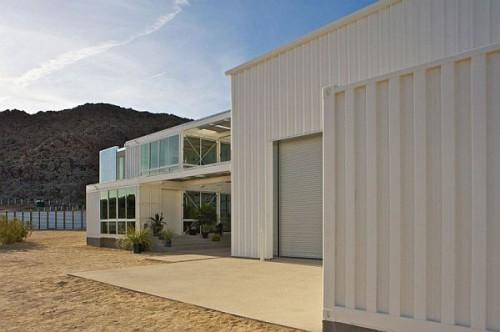 First Shipping Container House Mojave Desert Ecotech Design