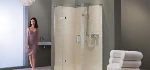 Flexible Shower Enclosures Hinged Doors Panels New