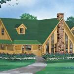 Floor Log Home Plan First Interior