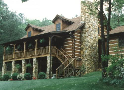Foot Wide Greenbriar Log Home Statesville Provides Extra