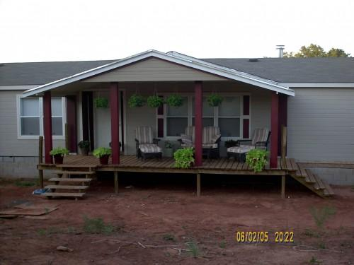 Front Porch Same Mobile Home Below