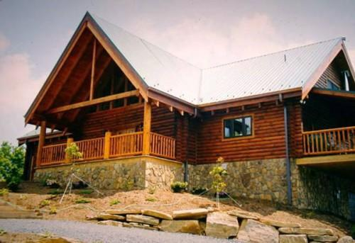 Frowns Log Home Provide Beveled Meets Exterior