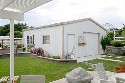 Garage Visual Simplicity Functional Modern Prefab Kits