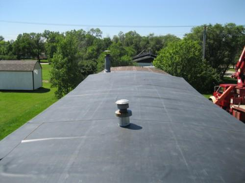 Genflex Rubber Roof System Installed Mobile Home
