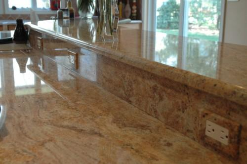 Gold Oak Prefabricated Granite Countertops