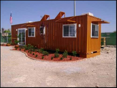Good Design Home Made Out Shipping Container Brown Color