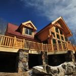 Gorgeous Custom Built Log Home Lodges Eagles Nest