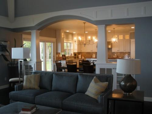 Great Room Into Kitchen Dinette