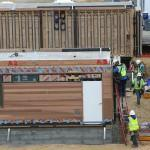 Green Modular Prefab Homes Built Vallejo Blu Workers Install