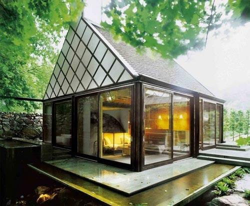 Green Small House Design Layout Ideas