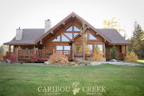 Handcrafted Chink Style Log Home Caribou Creek Timber