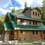 Handcrafted Fir Log Home Colorado Usa