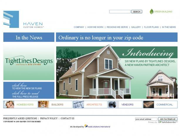 Haven Homes Now Offering Tightlines Designs