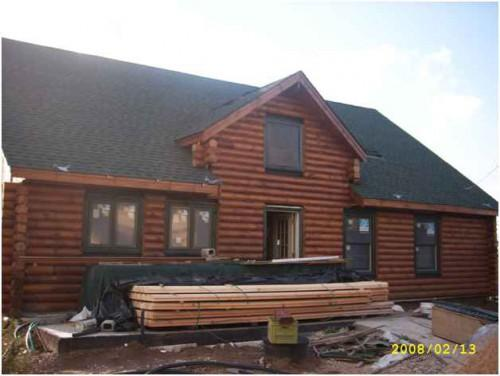 Here One Our Contemporary Log Homes Time Exported