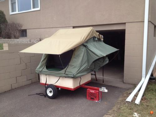 Home Built Motorcycle Tent Trailer Build