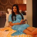 Home Rithika Hot Stills Blue Night Dress Actress Ritika Sood Bed