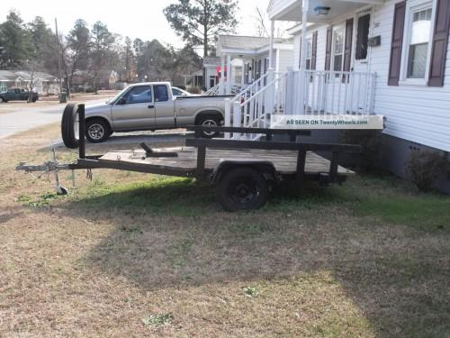 Homemade Motorcycle Flatbed Trailer Trailers