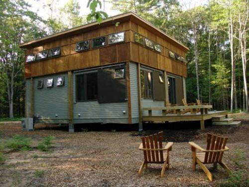 House Michigan Green Home Prefab Cottage Day
