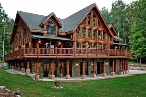 House Sale Michigan Barry County Delton Lakefront Log Home