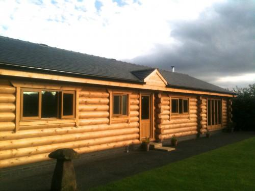 Hybrid Construction British Log Cabins