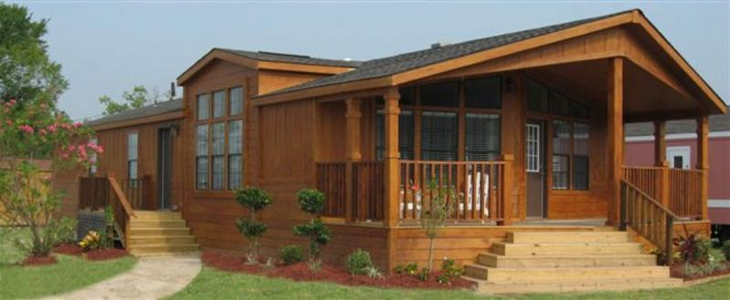 Imposing Index Element Cabin Style Mobile Home