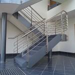 Indoor Prefab Metal Glass Stairs Steel Railing Mounted