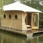June Back Floating Tiny Prefab Home