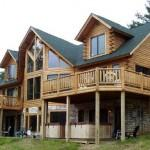 Katahdin Cedar Log Home Exterior