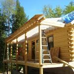 Katahdin Cedar Log Home Otisfield
