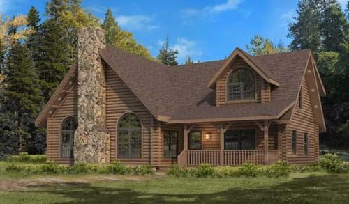 Kuhns Bros Log Homes Canyon Falls Home Plan