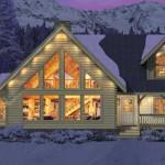Kuhns Bros Log Homes Canyon Falls Variation Home Plan