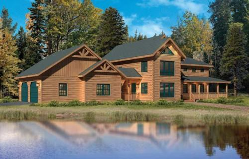 Kuhns Bros Log Homes Donegal Variation Home Plan