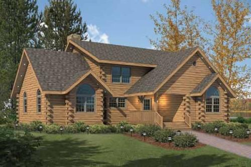 Kuhns Bros Log Homes Fairfield Home Plan