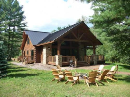 Lakefront Log Homes Sale