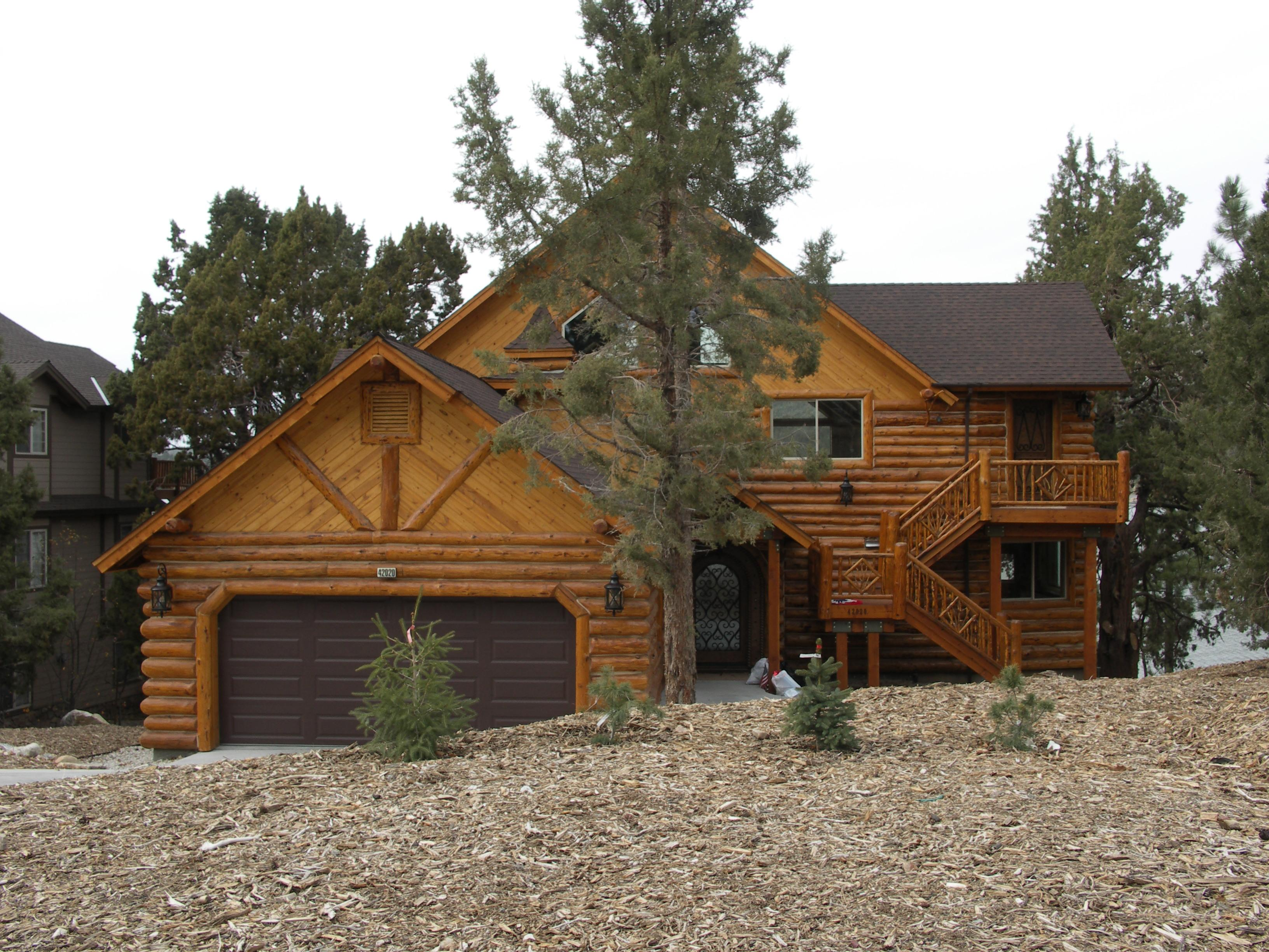 Lakefront Log Style Home Sale