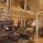 Lakeside Log Home Living Room