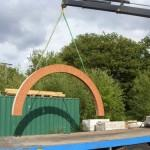 Large Prefabricated Semi Circular Arch Being Loaded Our Surrey