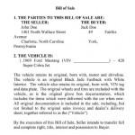 Law Contract Bill Sale