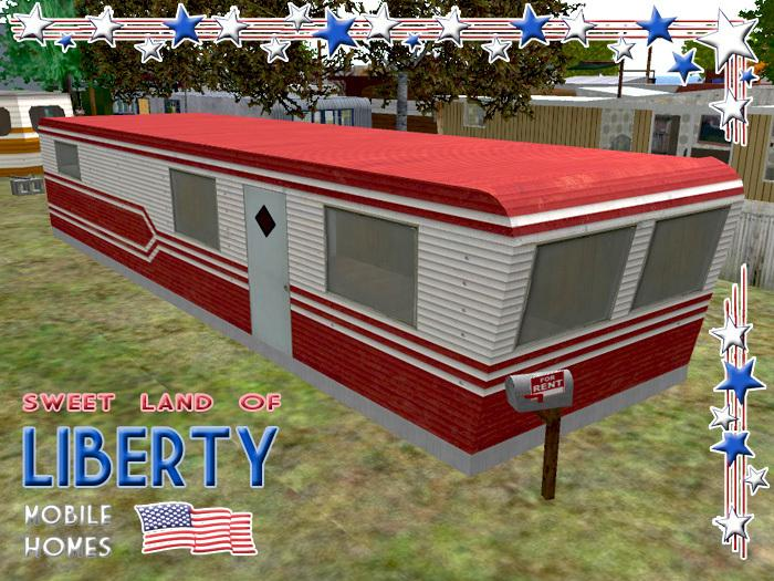 Liberty Mobile Home Five Colors Red Green Yellow Blue Pink