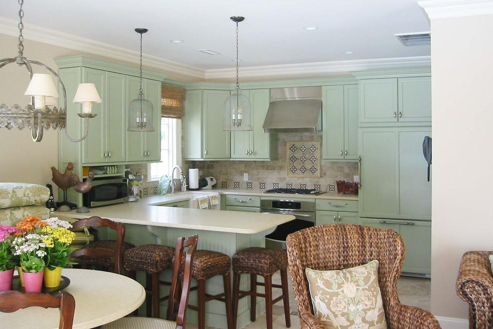 Light Green Home Remodeling Traditional Kitchen Other Metro