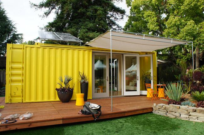 Little Shipping Container House Called Nomad