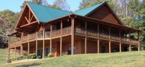 Living Best Custom Log Home Ellijay Georgia Sale