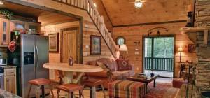 Living Room Log Cabin Decorating Ideas