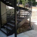 Living Room Outdoor Metal Stairs Prefab