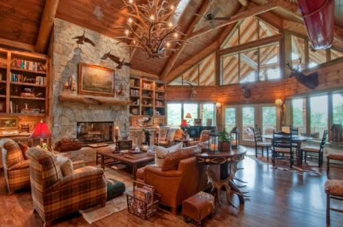 Log Cabin Interior Design Ideas Decorating Luxury Home