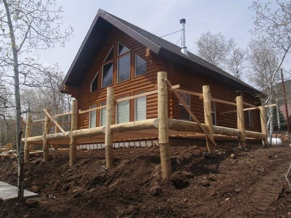 Log Cabin Timber Home Mountain Custom Kit Uinta Utah