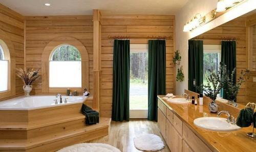 Log Home Bathrooms