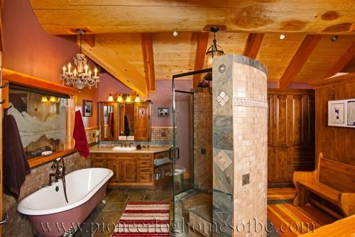 Log Home Bedrooms Bathrooms