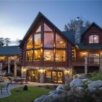 Log Home Built Courtesy Golden Eagle Homes