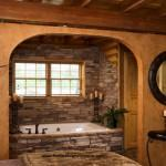 Log Home Caldwell Traditional Bathroom